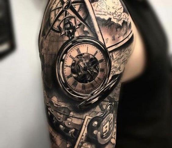Tatuajes De Reloj En El Hombro (1)