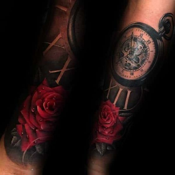 Tatuajes De Reloj En El Hombro (11)