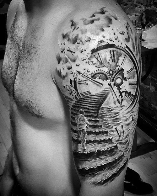 Tatuajes De Reloj En El Hombro (15)