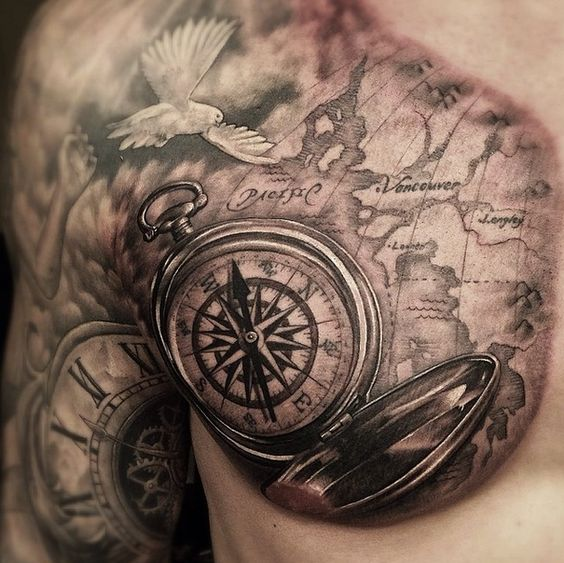 Tatuajes De Reloj En El Hombro (16)