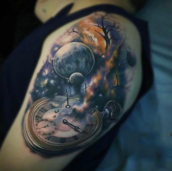 Tatuajes De Reloj En El Hombro (18)
