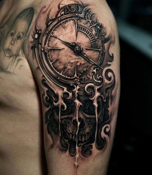 Tatuajes De Reloj En El Hombro (2)