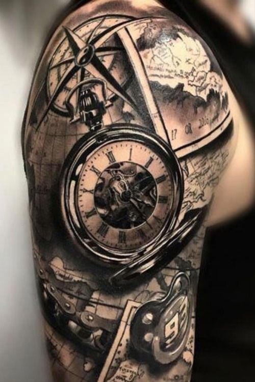 Tatuajes De Reloj En El Hombro (5)