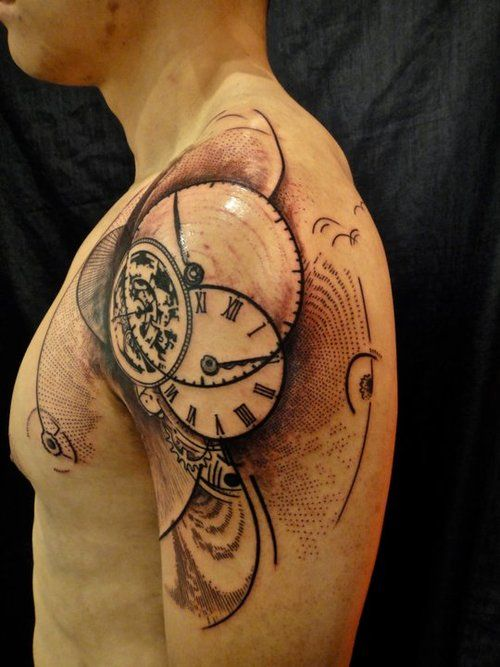 Tatuajes De Reloj En El Hombro (6)