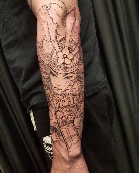 Samurais Tatuados En El Antebrazo (1)