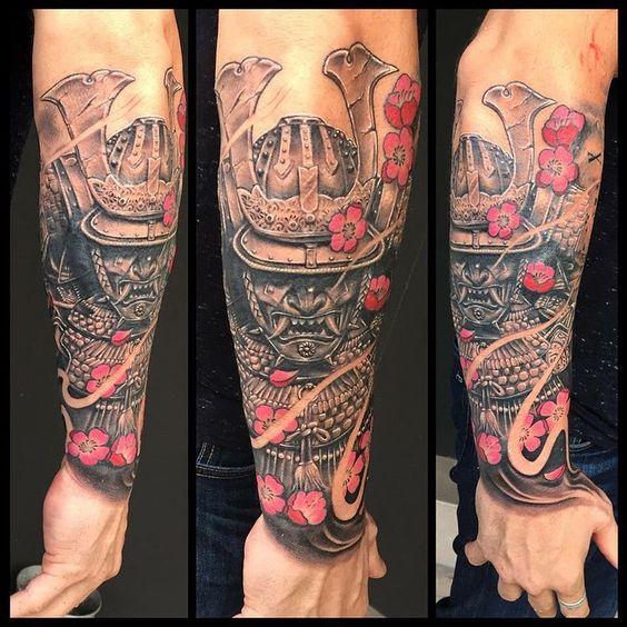 Samurais Tatuados En El Antebrazo (2)