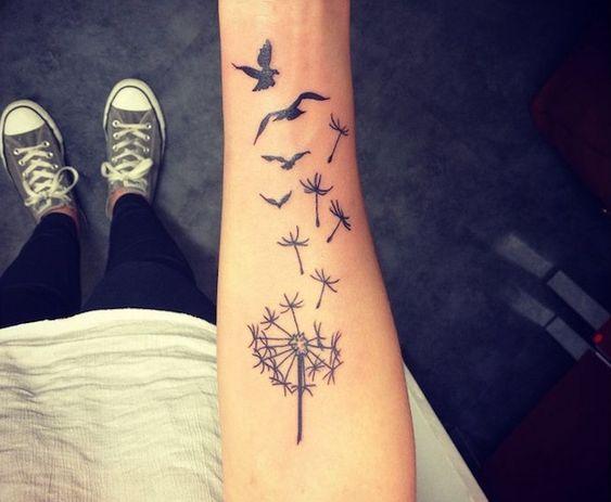 Tatuaje De Diente De Leon En El Brazo (3)