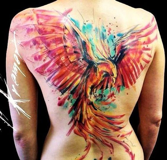 Tatuaje En Espalda Fenix (4)