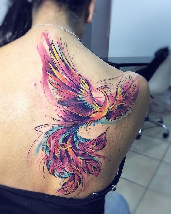 Tatuaje En Espalda Fenix (5)
