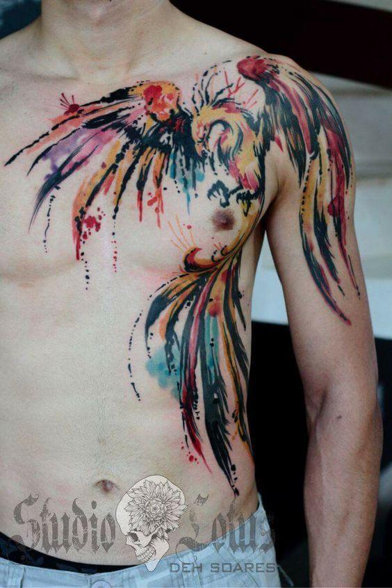Tatuajes De Ave Fenix Hombres (2)