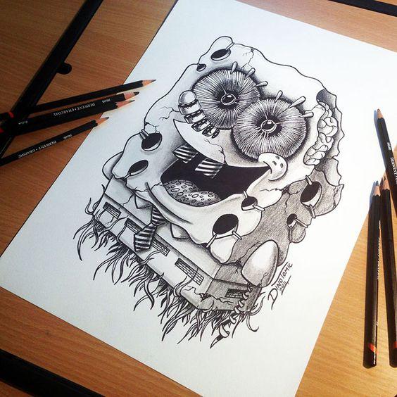 Tatuajes De Dibujos Animados Para Hombres (2)