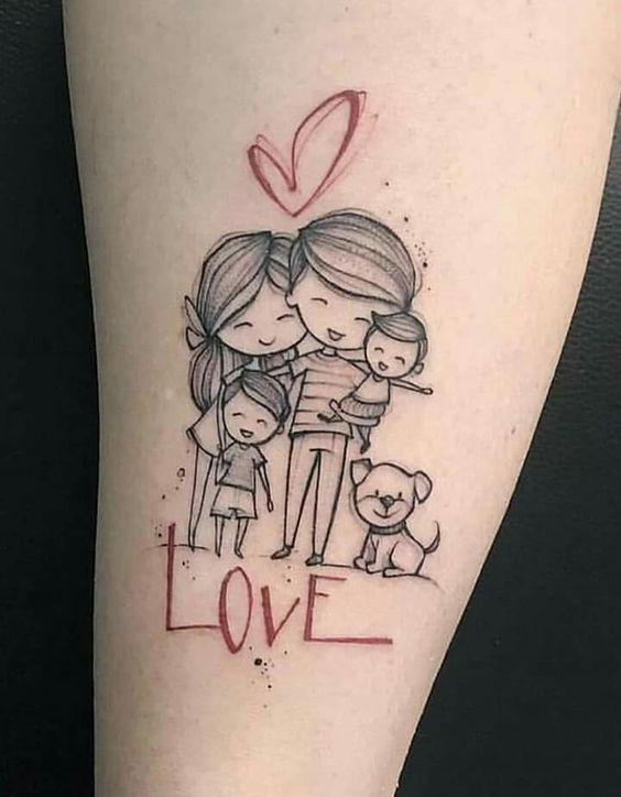 Tatuajes De Familia Que Simbolizan Unidad (5)