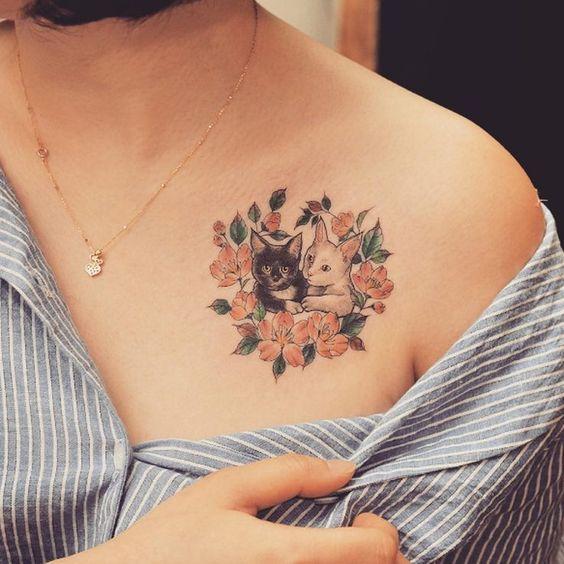 Tatuajes De Gatos Para Mujeres (1)