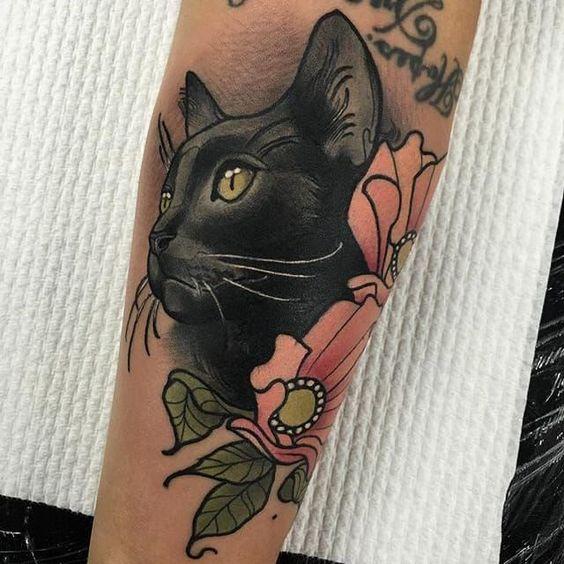 Tatuajes De Gatos Para Mujeres (3)