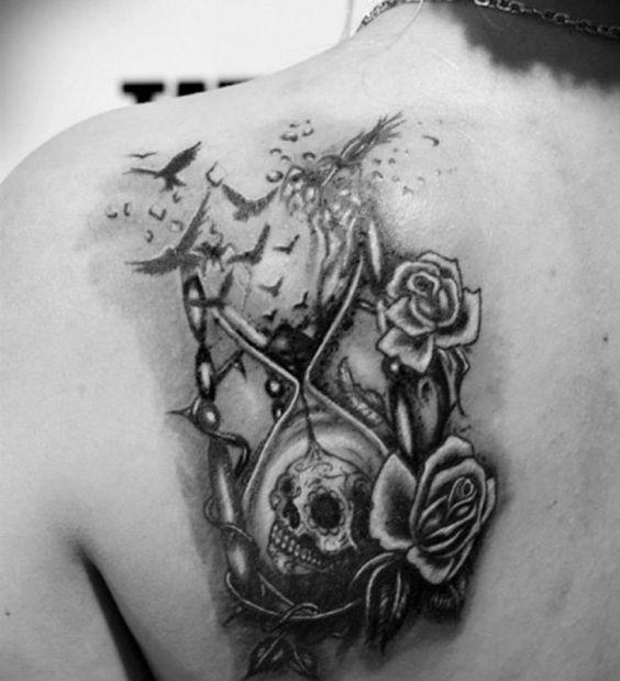 Tatuajes De Relojes De Arena (20)