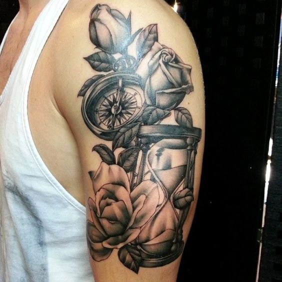Tatuajes De Relojes De Arena (24)