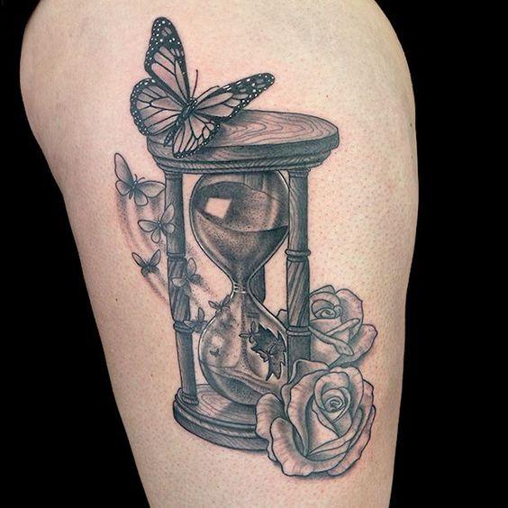Tatuajes De Relojes De Arena (28)