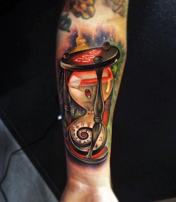 Tatuajes De Relojes De Arena (8)