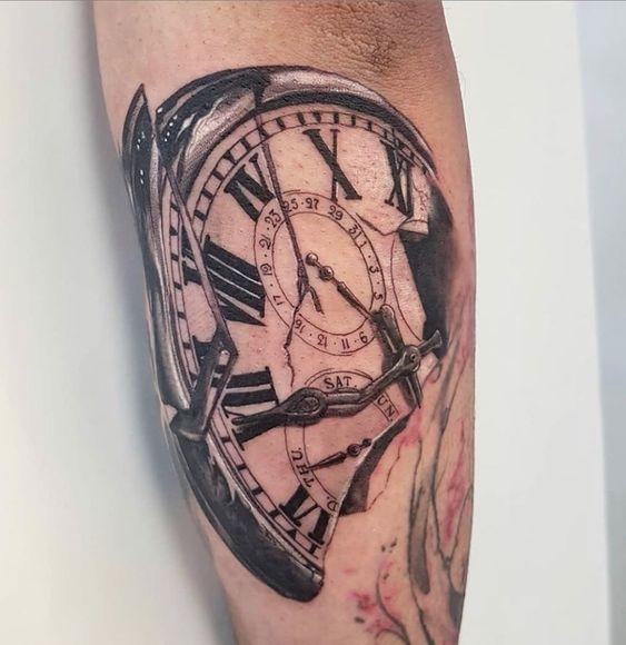 Tatuajes De Relojes De Bolsillo (1)