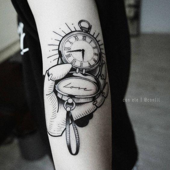 Tatuajes De Relojes De Bolsillo (10)