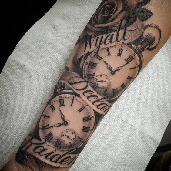 Tatuajes De Relojes De Bolsillo (11)