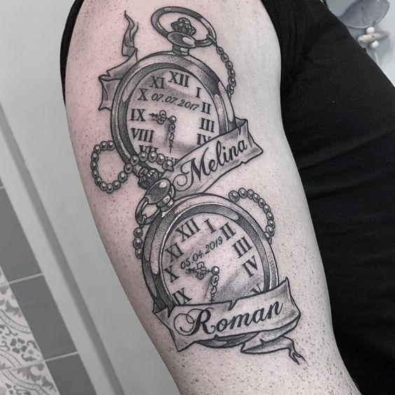 Tatuajes De Relojes De Bolsillo (12)