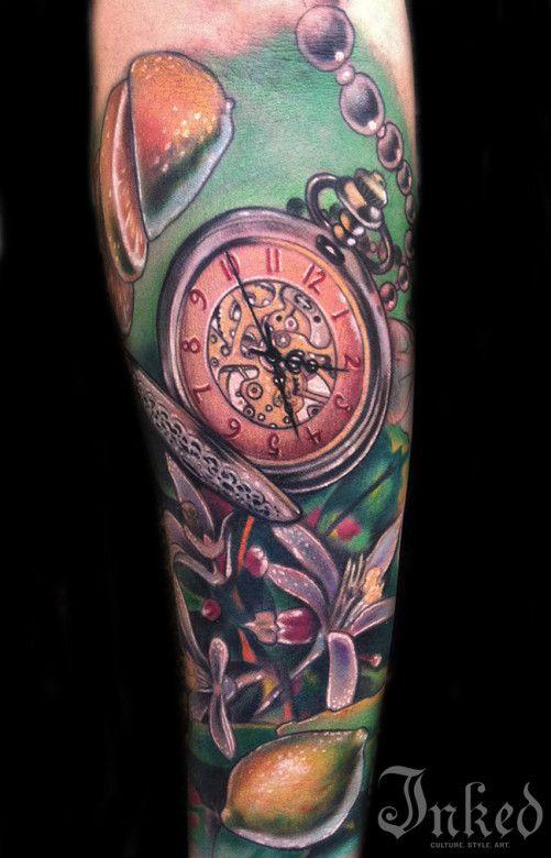 Tatuajes De Relojes De Bolsillo (13)
