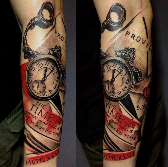 Tatuajes De Relojes De Bolsillo (17)
