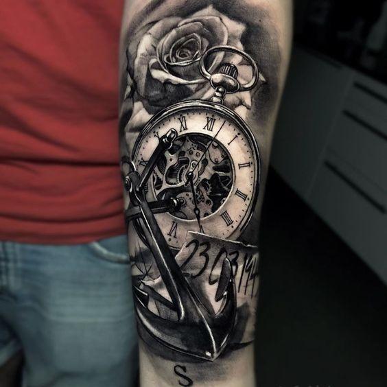 Tatuajes De Relojes De Bolsillo (19)