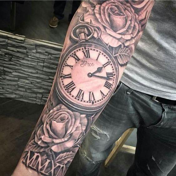 Tatuajes De Relojes De Bolsillo (2)
