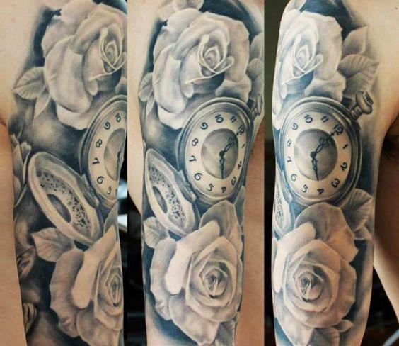 Tatuajes De Relojes De Bolsillo (20)