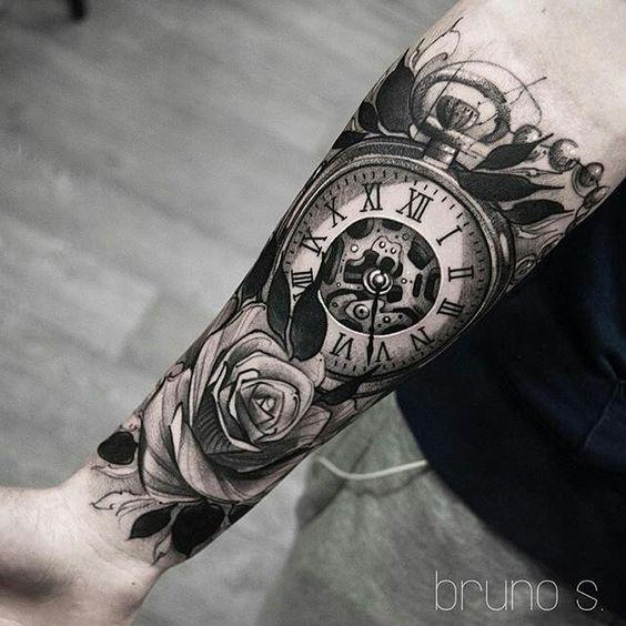 Tatuajes De Relojes De Bolsillo (4)