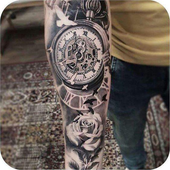 Tatuajes De Relojes De Bolsillo (5)