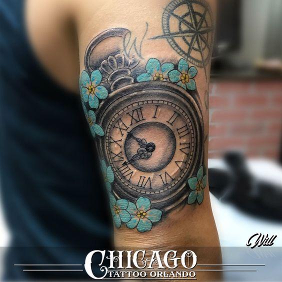 Tatuajes De Relojes De Bolsillo (6)