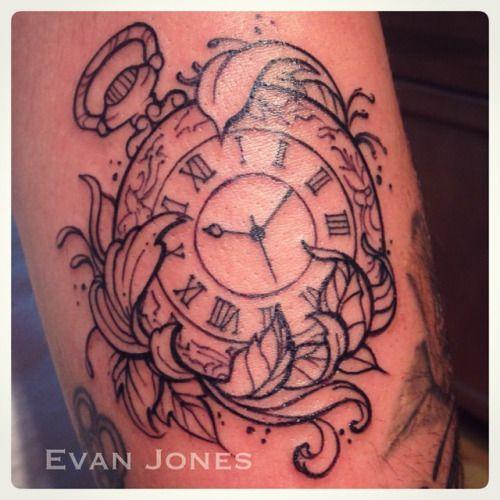 Tatuajes De Relojes De Bolsillo (7)