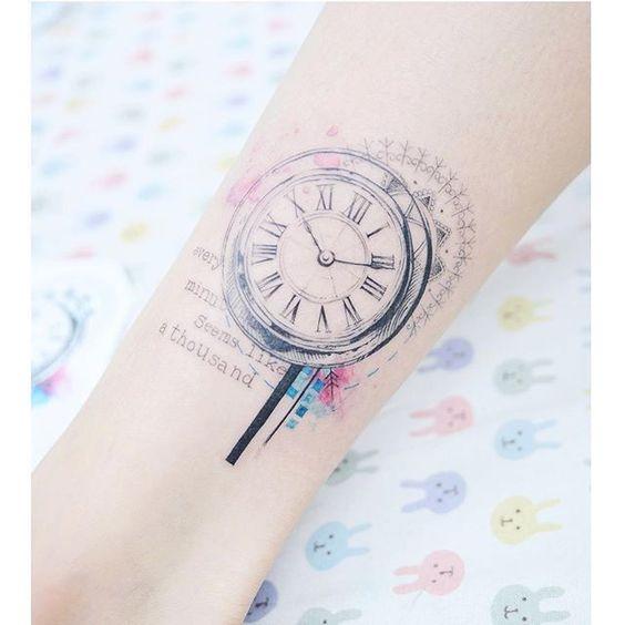 Tatuajes De Relojes Para Mujeres (7)