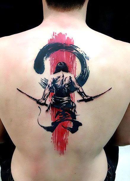 Tatuajes De Samurai En La Espalda (1)