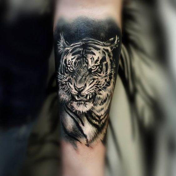Tatuajes De Tigres En El Brazo (2)