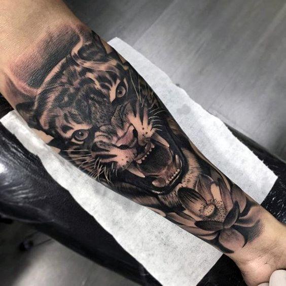 Tatuajes De Tigres En El Brazo (4)