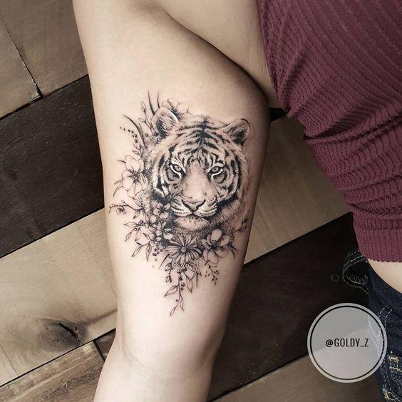Tatuajes De Tigres En Mujeres (2)