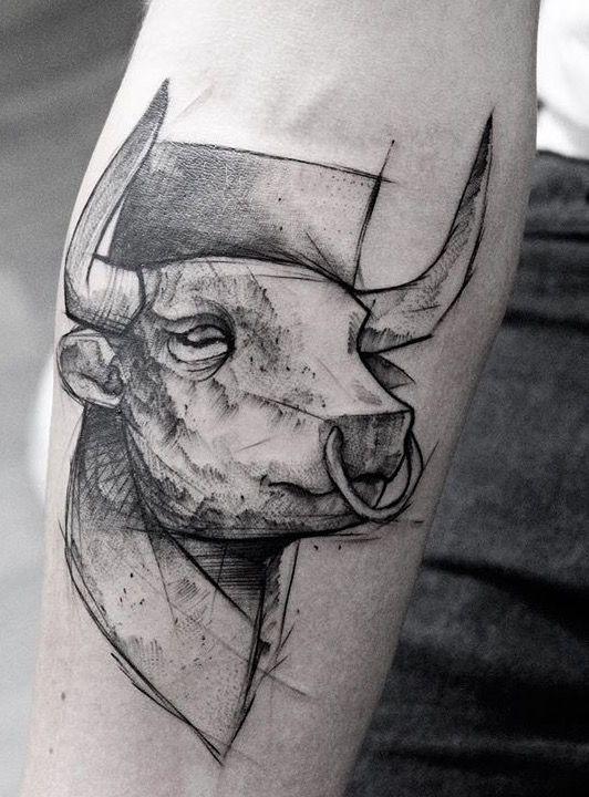 Tatuajes De Toros Para Hombres (3)