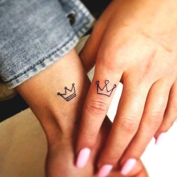 Tatuajes Pareja Coronas 1