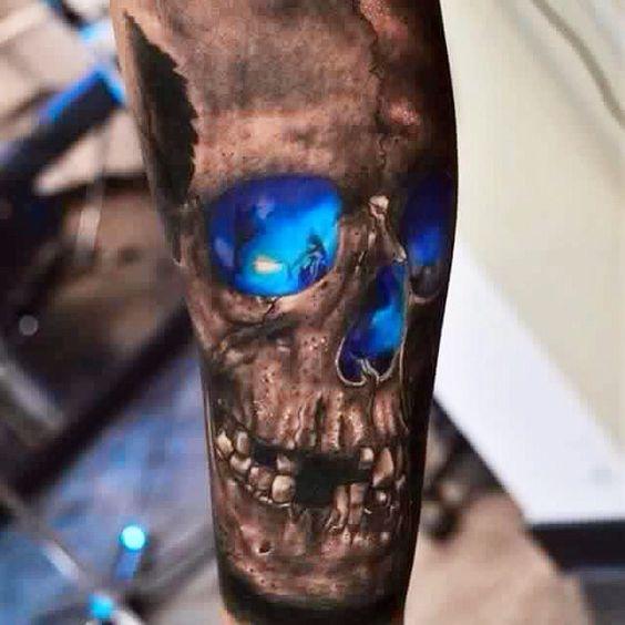 Tatouage Du Crâne Des Hommes (1)