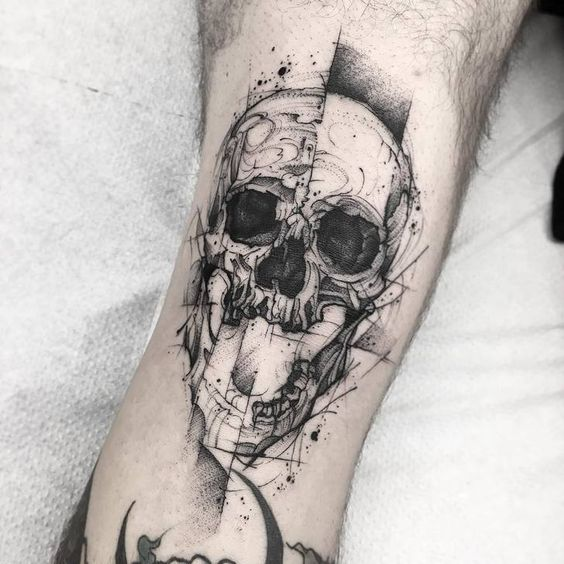 Tatouage Du Crâne Des Hommes (12)