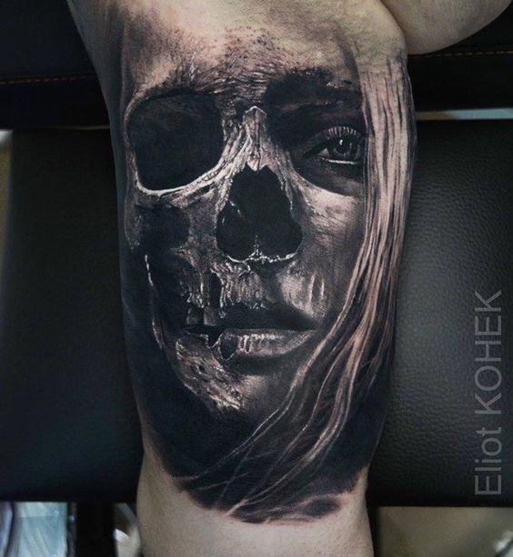 Tatouage Du Crâne Des Hommes (14)