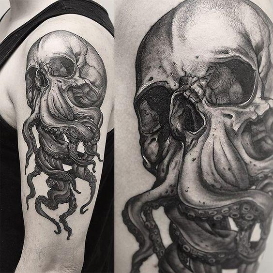 Tatouage Du Crâne Des Hommes (18)