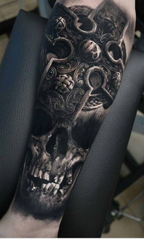 Tatouage Du Crâne Des Hommes (19)