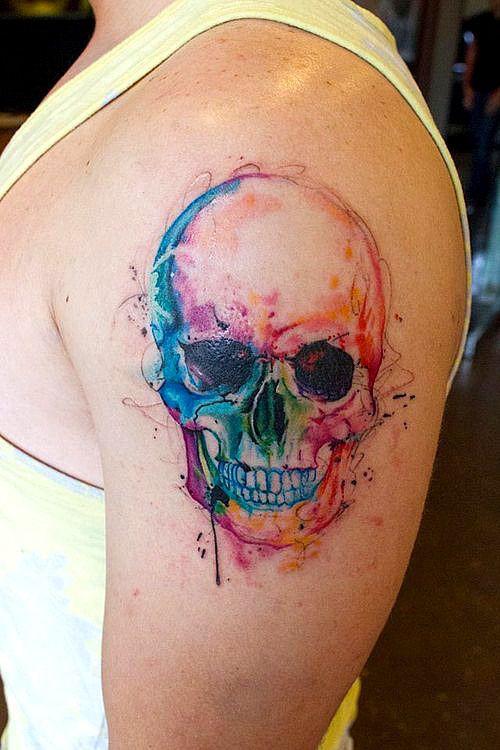 Tatouage Du Crâne Des Hommes (2)
