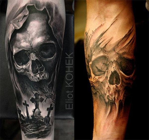 Tatouage Du Crâne Des Hommes (5)