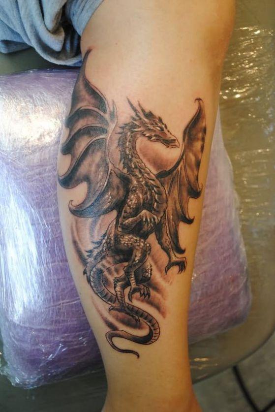 Tatouages De Dragons Gothiques (3)